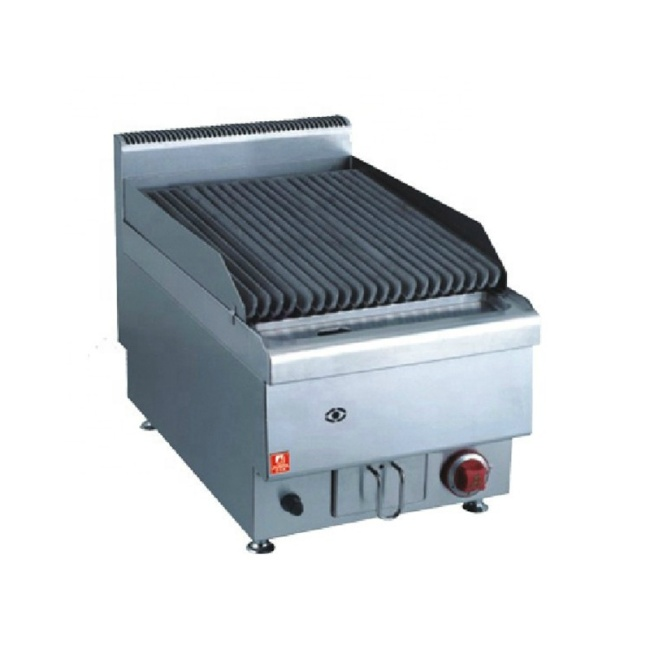 JUS-TRH40 Gas Counter Top Lava Rock Oven Grill For Bbq And Teppanyaki