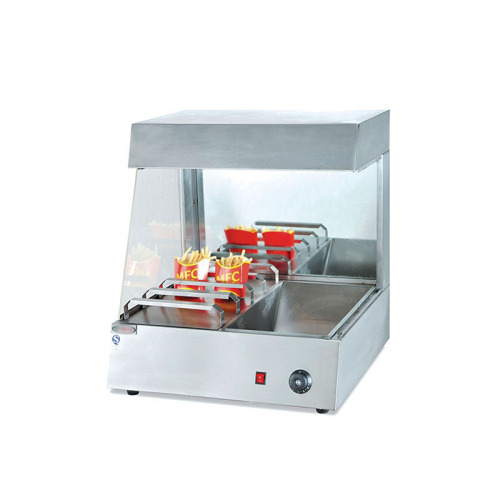 YVF-8 Vertical Type French Fries Chip Warmer Chips Worker Holding Cabinet Fast Food Equipment Showcase
