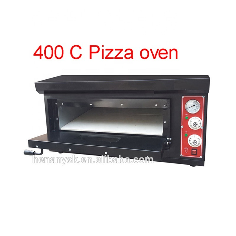 400c Commercial electric / GAS Black 1 2 layer pizza baking Oven Professional bakery equipment for sale
