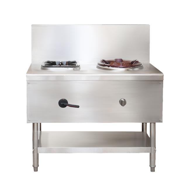 LPG 2 cooktop wok Burner Stove Cooking Range 1 burner for frying 1 for soup / warming foods