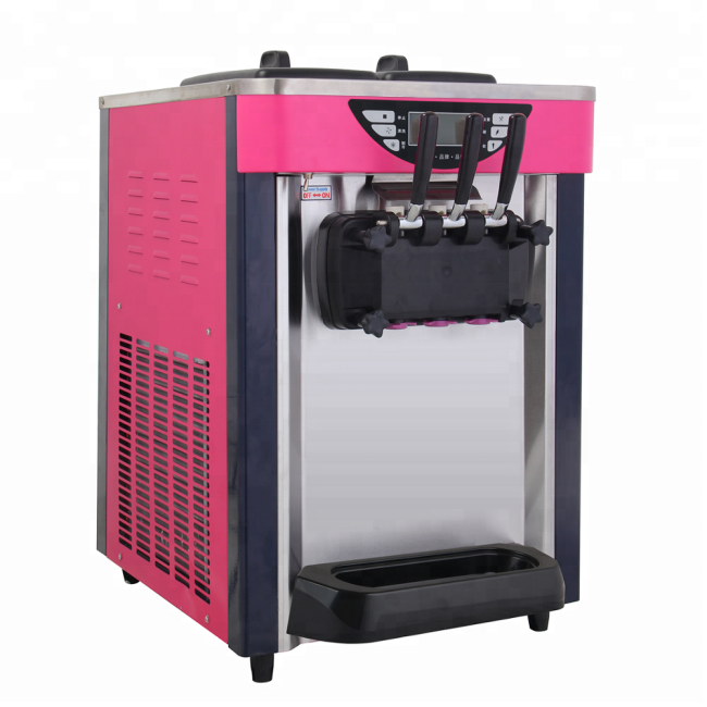 BJ168SD 12-16L/H Countertop Soft Ice Cream Maker Machine for Sale