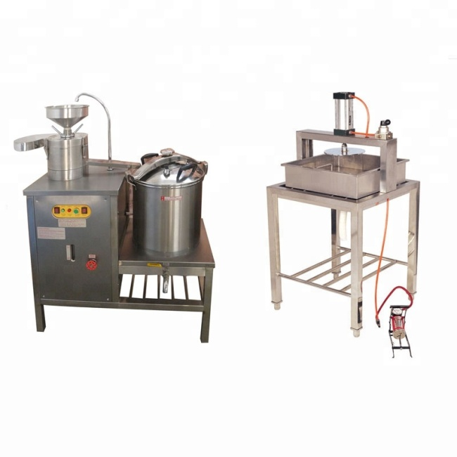 40L Gas Commercial Soybean Press Milk Boiler Grinder Soymilk Grinding Tofu Maker Making Equipment Machine Price For Sale