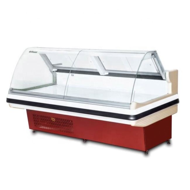 2m  2.6m 3.9m Meat Display Refrigerator Fresh Meat Showcase Case Supermarket Refrigerator