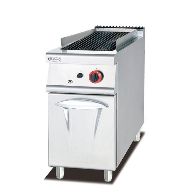 IS-GB-979 Vertical Gas Lava Rock Grill With Cabinet Barbecue Grill Oyster Seafood Gas Grill