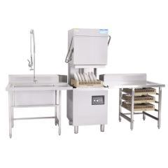 SUS304 Dishwasher Hood Type Hotel Restaurant Commercial Dish Washer Restaurant Kitchen Dish Bowl Washer