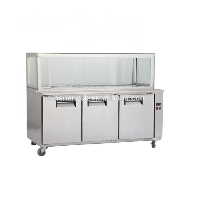 1800mm 3 Doors Refrigerator Freezer Single-Temperature Refrigerator