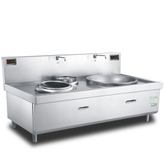 CH-DX1515 2018 Big Small Burner New Design Electric Induction Wok Cooker Furnace Ceramics Surface for Sale15000w