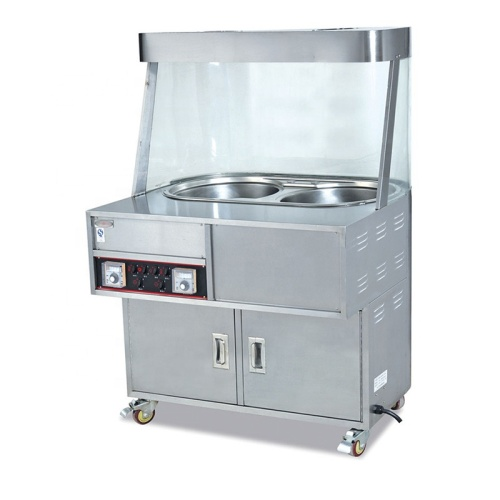 Commercial Stainless Steel Electric 2-Boiler Chestnut Roaster With 2 Tanks
