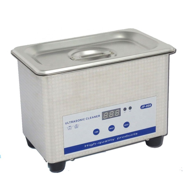 Stainless Steel 0.8L Ultrasonic Cleaner Home Mini Ultrasonic Cleaner Jewellery Glass Printer Head Cleaning Machine