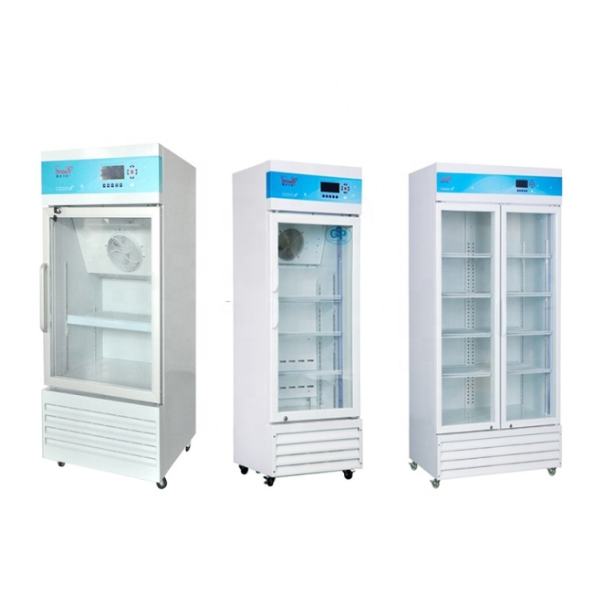 CE ISO 2-10 Degree Vertical Medical Refrigerator Cold Chest Hot Sale