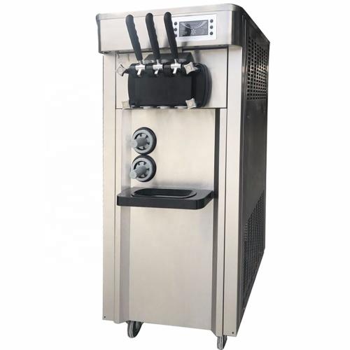 32L Cheaper 3 Flavors Commercial Auto Refrigerated Ice Cream Maker Soft Ice Cream Machine