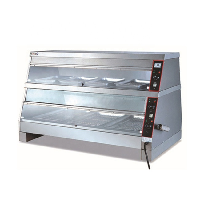 IS-DH-8P Electric Warmer Machine Stainless Steel Display Food Warmer Showcase For Sale