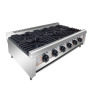 6 Burners Industrial Portable Gas Cooking  Cooking Range Pot Stainless Steel