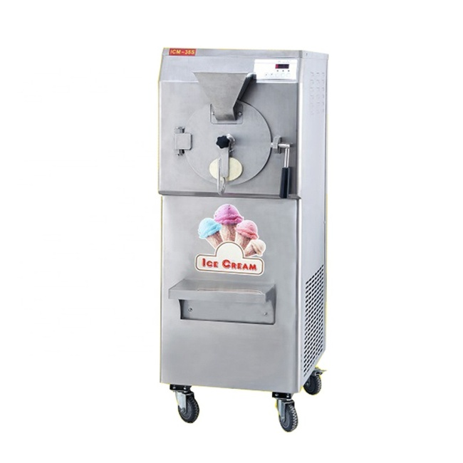 220v 50hz ICM-38S Commercial Vertical Hard Carpigiani Ice Cream Maker Machine 4HP Compressor
