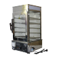 Electric Glass Commercial 6 Layers Display Cabinet Square Steaming Heating Steamed Stuffed Soup Dumpling Steamer Machine