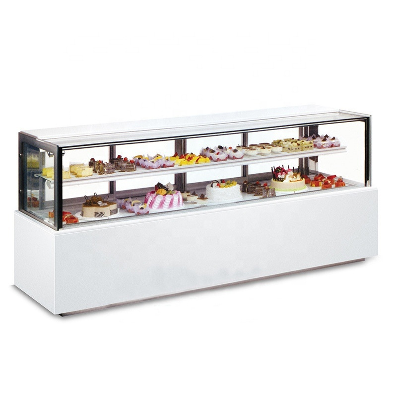 New All-Round Display Japanese Right Angle Glass Display Cake Showcase