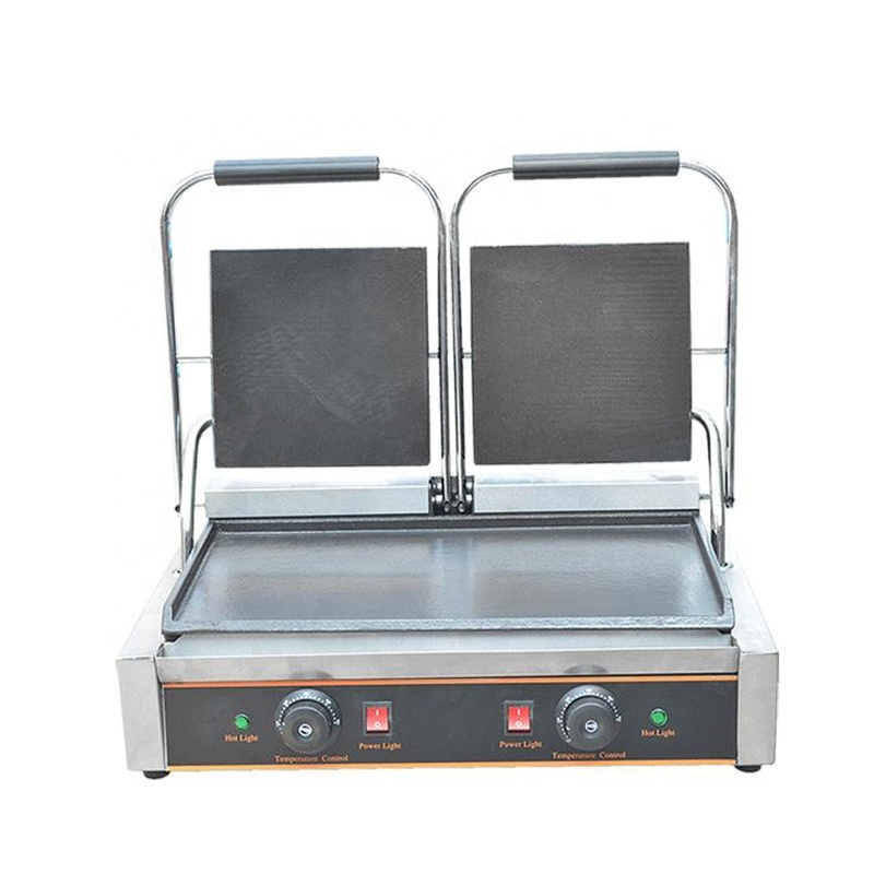 CE Hot Electric Flat 2 Plates Electric Cast Iron Griddle Electric Griddle Machine Free Shipping
