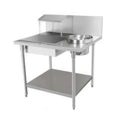 Stainless Steel Simple Work Bench Easy Bread Table Western Fast Food KFC Fryer Equipment Wrapping Power Table