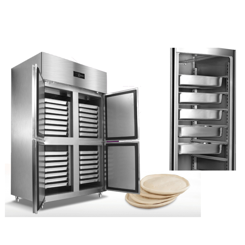 -18~-22 28trays price Stainless Steel Commercial Refrigerator Kitchen Fan Cooling Pizza dough Tray Cabinet Industrial Freezer