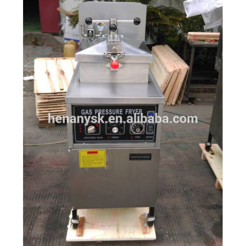 IS-MDXZ-25C Gas Chicken Deep Fryer For Duck Chicken Pressure Fryers For Sale Only Gas as Fuel Not Electric Without Oil Pump