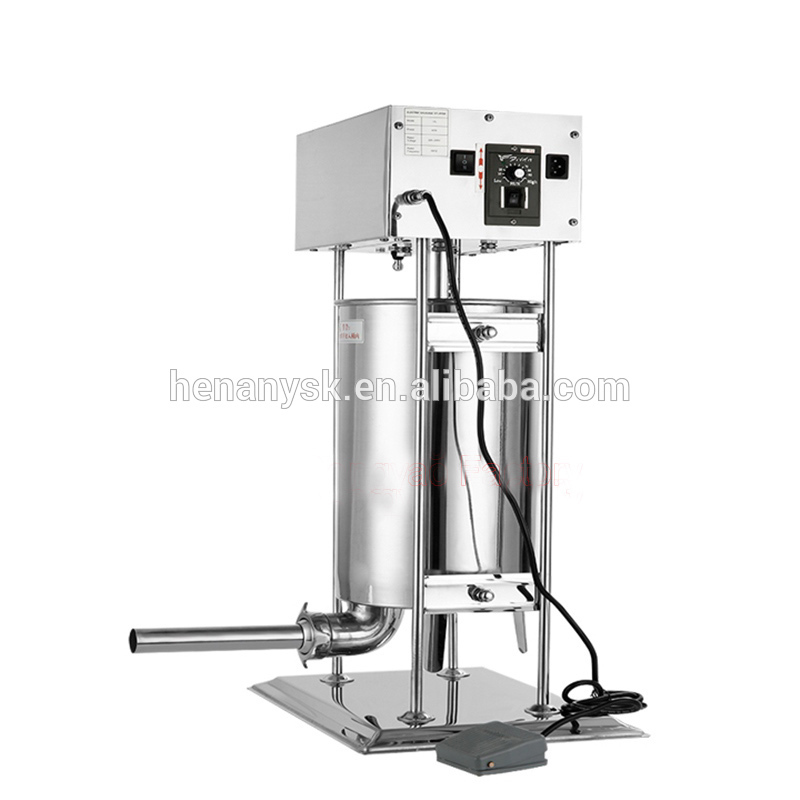 10L Electric Stainless Steel Sausage Stuffer Filling Filler  Pusher Machine