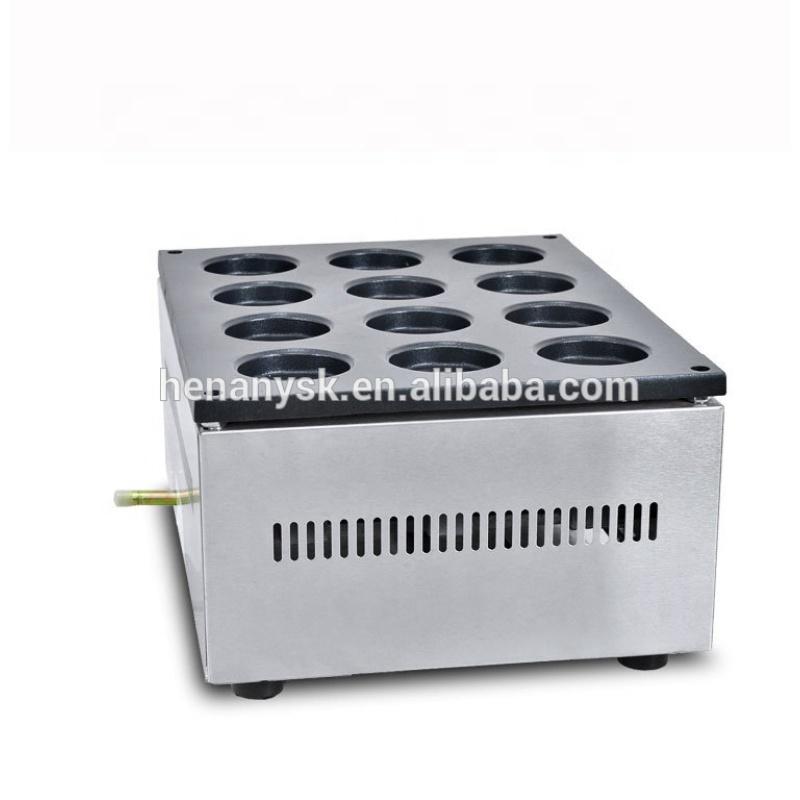 2018 Commercial Latest 12 Holes Gas Red Bean Cake Maker Wheel Pie Cake Obanyaki Making Machine for Sale