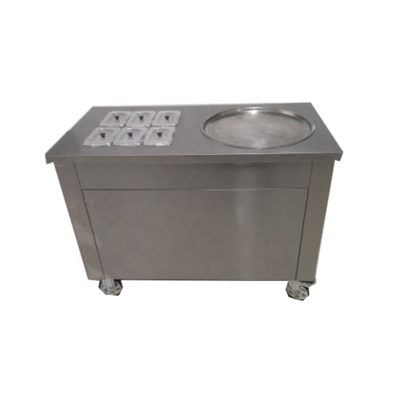 1*45cm Pan Ice Pan Machine Ice Cream Rolls Roller Machine Rolled Round Pan Fried Ice Cream Frying Machine