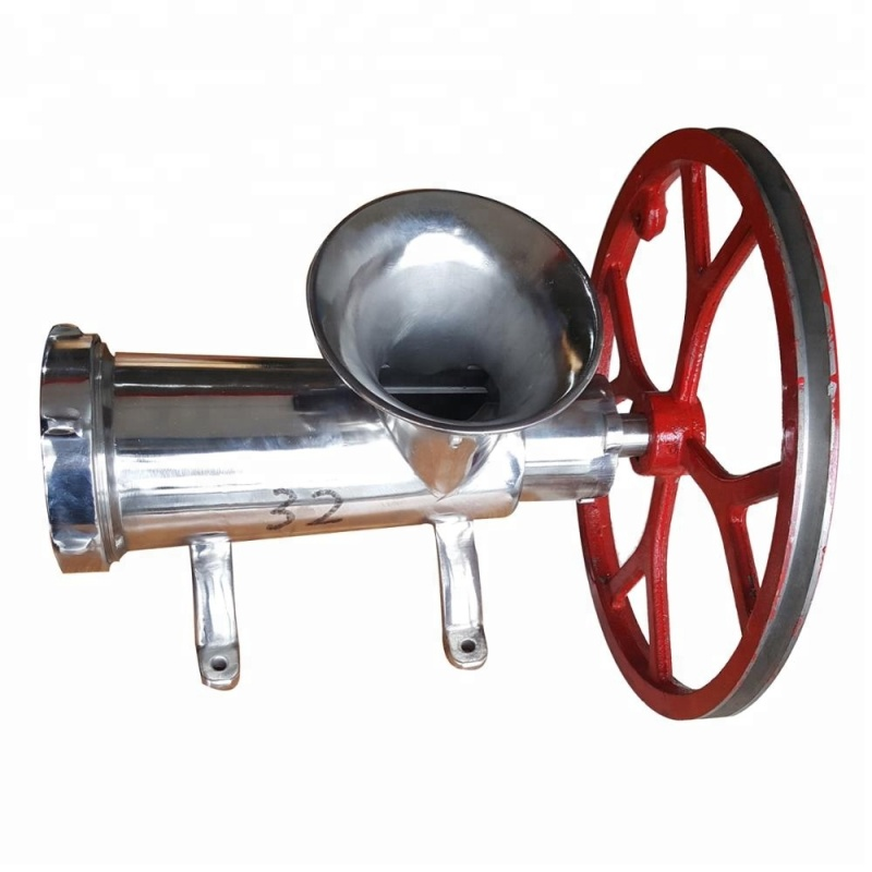 304 32# Stainless Steel Manual Pully Meat Grinder Mincer Sausage Filler For Dogs or Animals People Kitchen Use