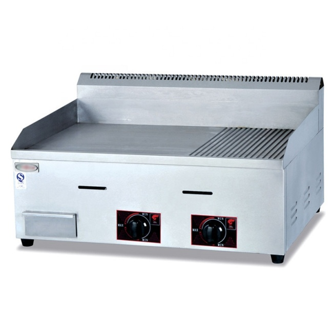 Stainless Steel Gas Griddle Machine Grill Machine Grill Food Machine GH-722