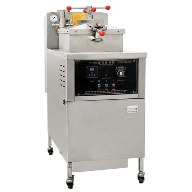 Industrial Customized Professional Henny Gas Pressure Fryer Heating With Oil Pump