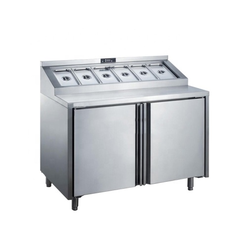 Air Cooling Stainless Steel Desktop Chiller Counter Top Salad Bar