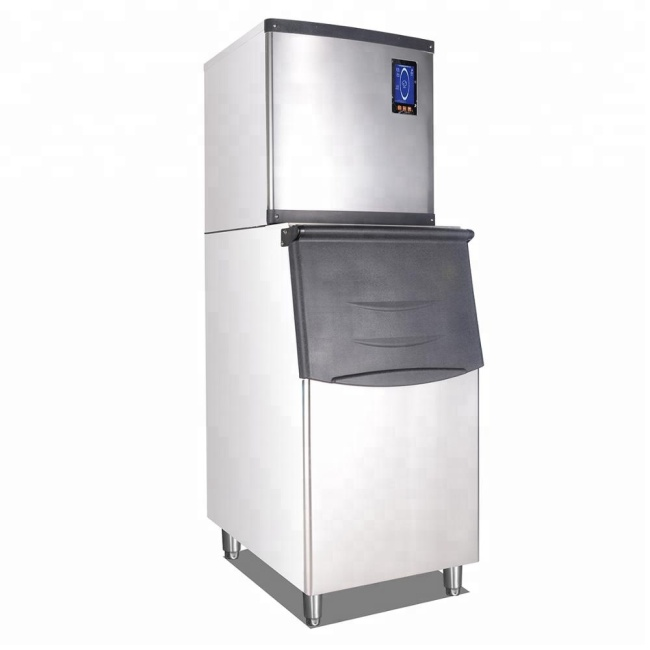 SF700  CE approve Ice Bucket Stainless Steel Ice Cube Ice Maker Machine For Hotel Restaurant
