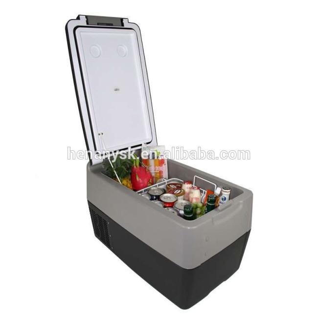 IS-Y30 High-Capacity Mini Car Refrigerator 12V24V Compressor Refrigeration With Pull Rod