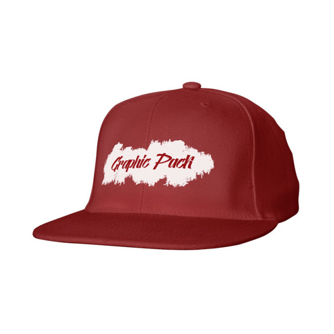 6 Panel Cotton Twill Snapback Cap-One Color Screen Print