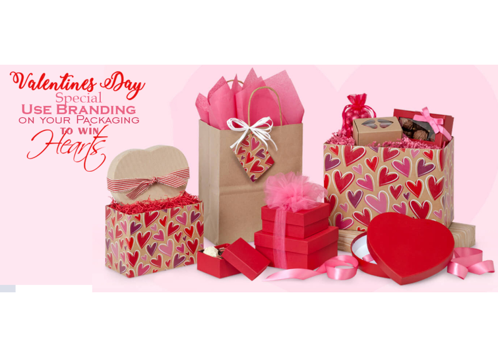 Valentines Day Special Use Branding on your Packaging to win Hearts