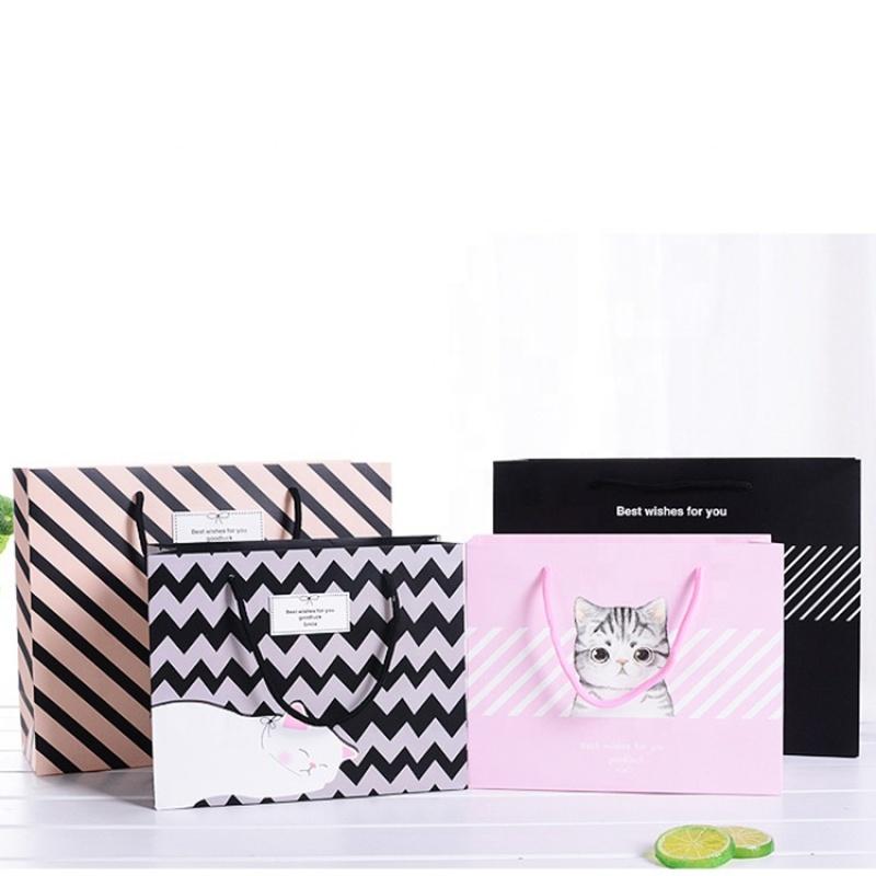 Custom print design gift kraft jewelry gift paper bag