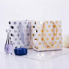 Custom hot stamping print glitter gift paper bag