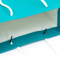 Benutzerdefinierte Luxus-Blumenstrauß-Kleidung auf Lager, blaue Papiertüten mit Logo-Druck