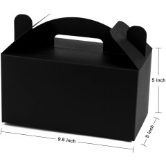 Can be wholesale themed birthday party cute gift paper box portable black cake folding paper box