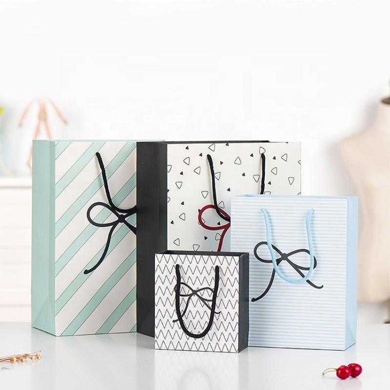 Custom paper shopping craft hard gift kraft paper bag