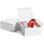 Customizable white square paper box restaurant mini cake donut paper box