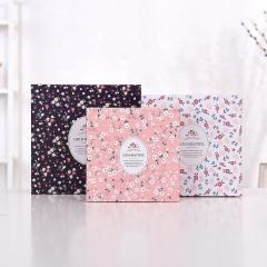 Großhandel benutzerdefinierte Größe floral große Tüte Kraftpapier-Box-Set