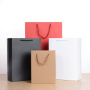 No Minimum Recycled Stock Supermarket Colorful Craft Paper Gift Bag With Handle