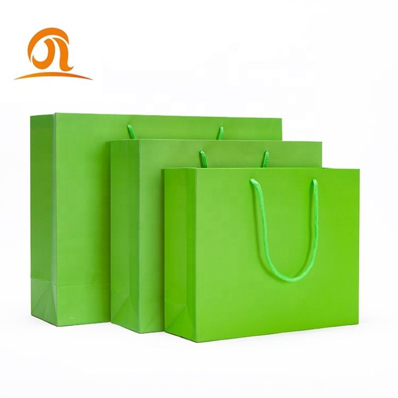 Cute custom logo bulk art card autoclave baby born handle paper bag blue yellow pink green
