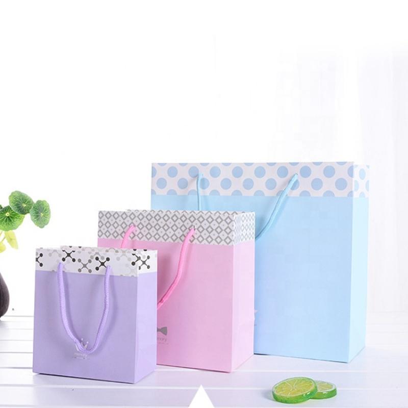 Custom matte print kraft party paper gift bag,paper bag party