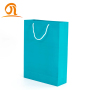 Stock Custom Luxury Bouquet Clothing Shopping Retail Blue Paper Bags With Logo Print