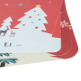 New hot selling custom portable disposable Christmas tree cute paper placemat