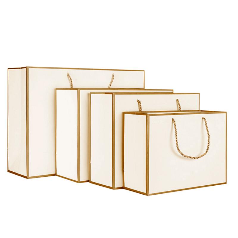 New high quality white luxury custom wedding cardboard handle gift bag