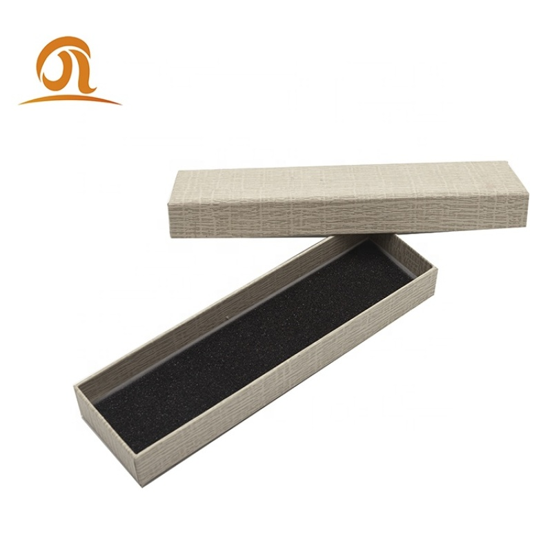 Hot sale  recycled earphone watch gift box packaging paper lipstick packaging texture paper box