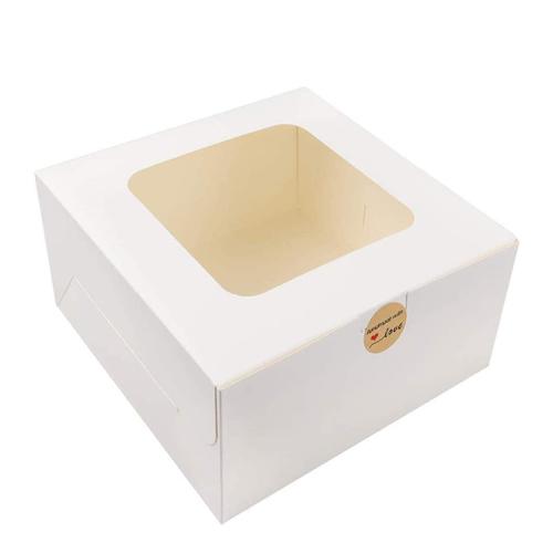 Luxury wedding sturdy and easy to fold doughnut display window bread box brown drawer paper box with window
